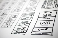 Website Landing Page Wireframes