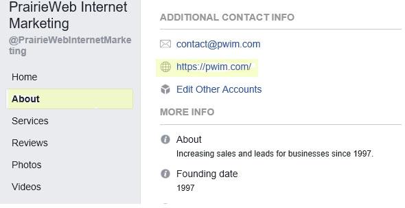 About - Facebook Settings