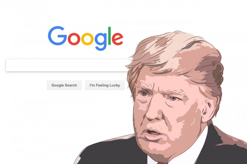 Donald Trump and Google